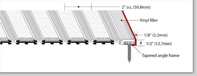 Treadline T1 Recessed Tapered Angle Frame Diagram